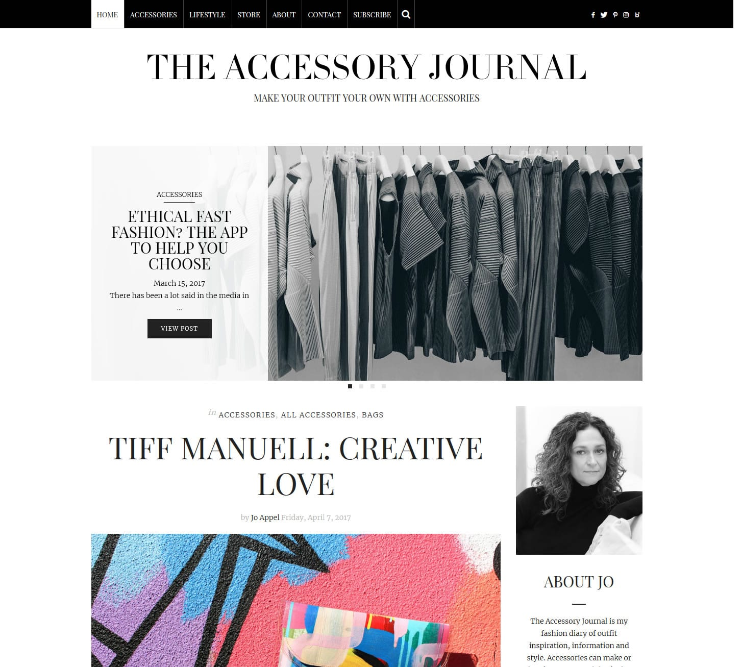 The Accessory Journal WordPress blog