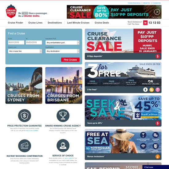 cruise guru wordpress website