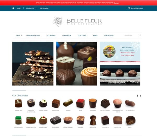 Belle Fleur Foods Custom WordPress Development