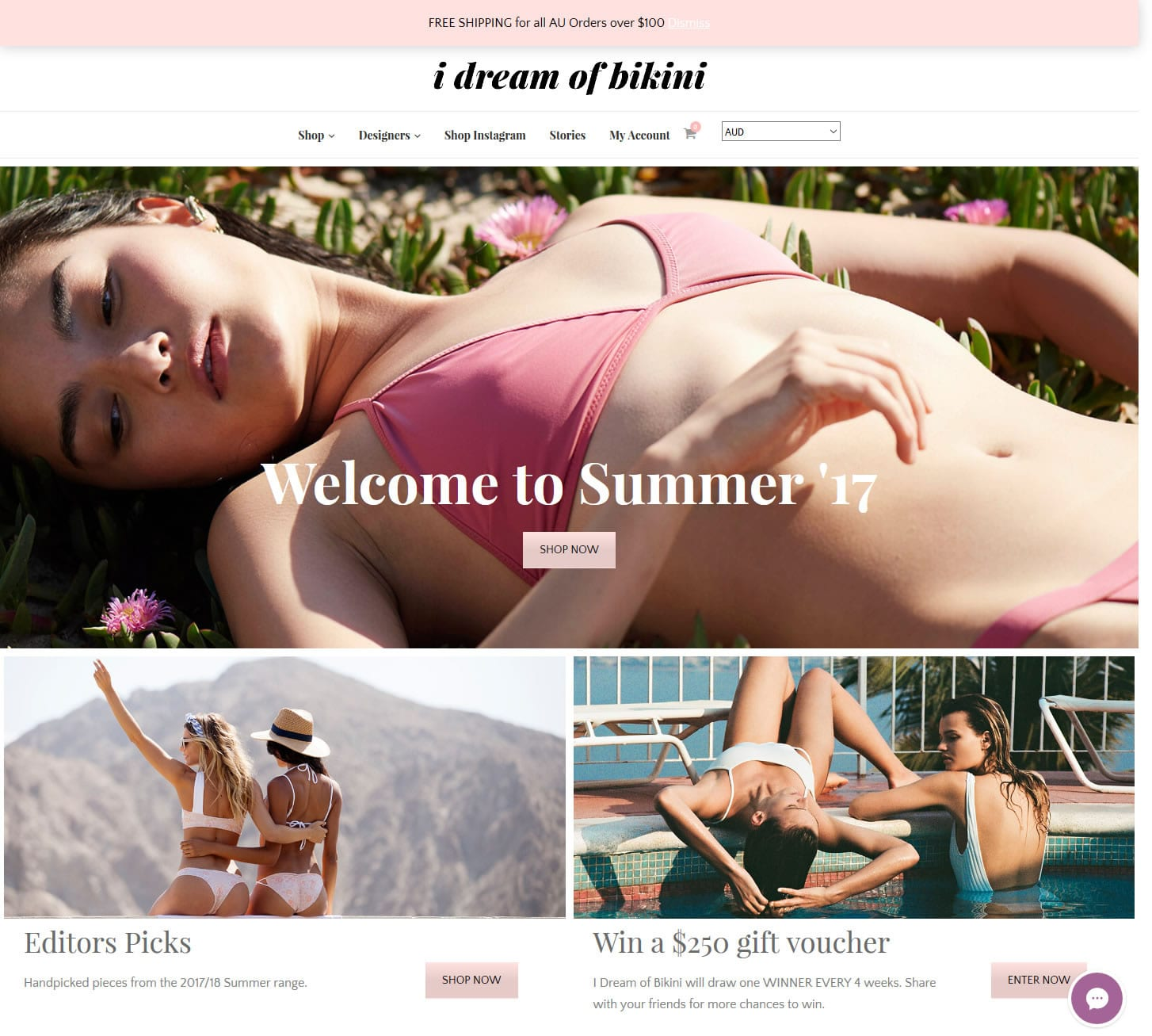 I dream of bikini website